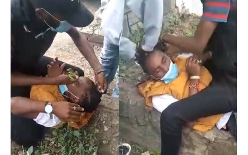 VIDEO: City deejay forcefully shaved in public for not paying up dreadlocks services