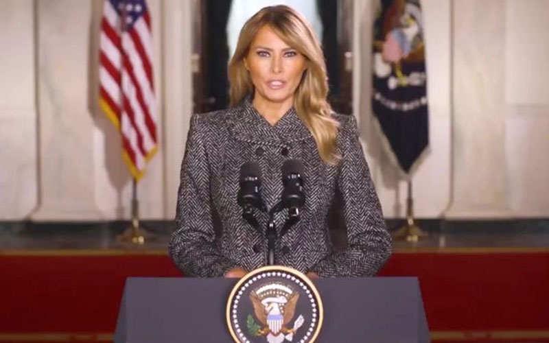 Violence will never be justified- Melania Trump in her final message as First Lady