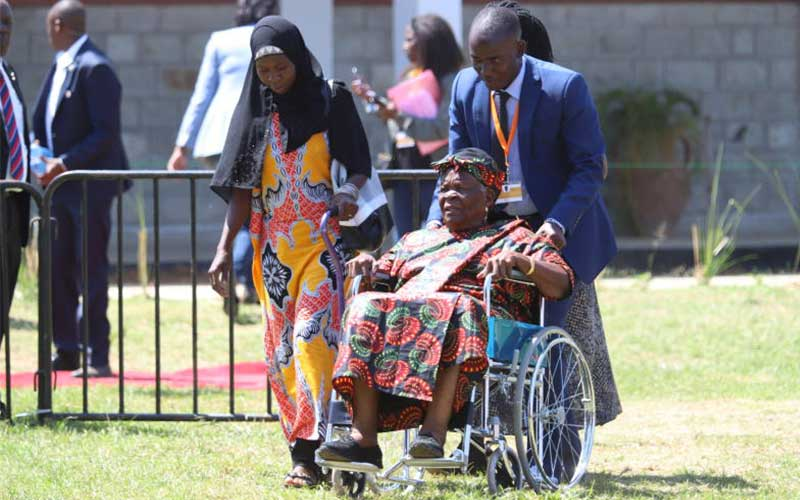 Mama Sara Obama is wheeled into Sauti Kuu vocation
