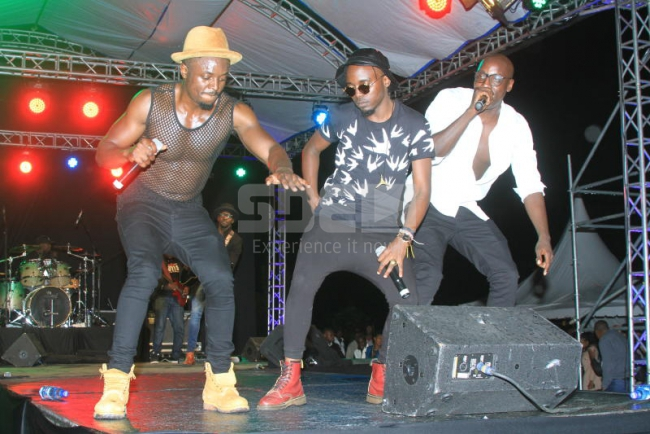 Sauti Sol performing their hits during the Take Ov