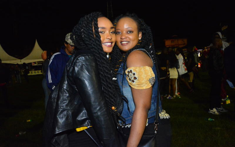 Martha Njeri and Diana Kimshie at the Katika Festi