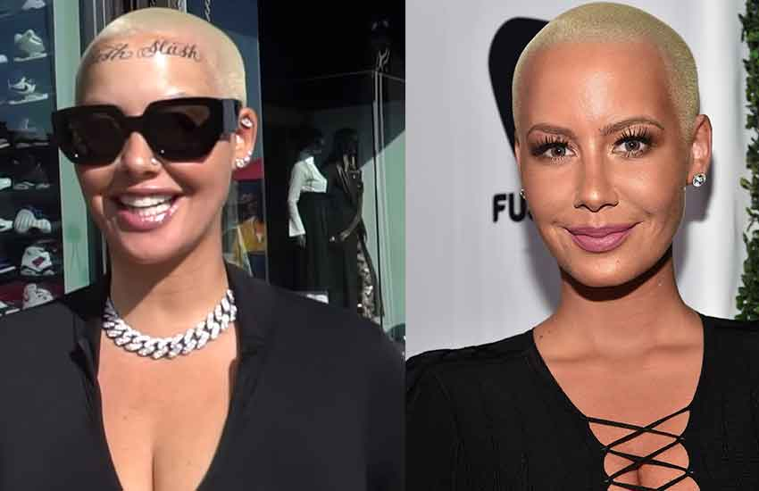 Amber Rose shows off her enormous new face tattoo