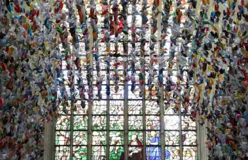 Art: How flock of 20,000 paper birds helped pay for two Covid-19 units