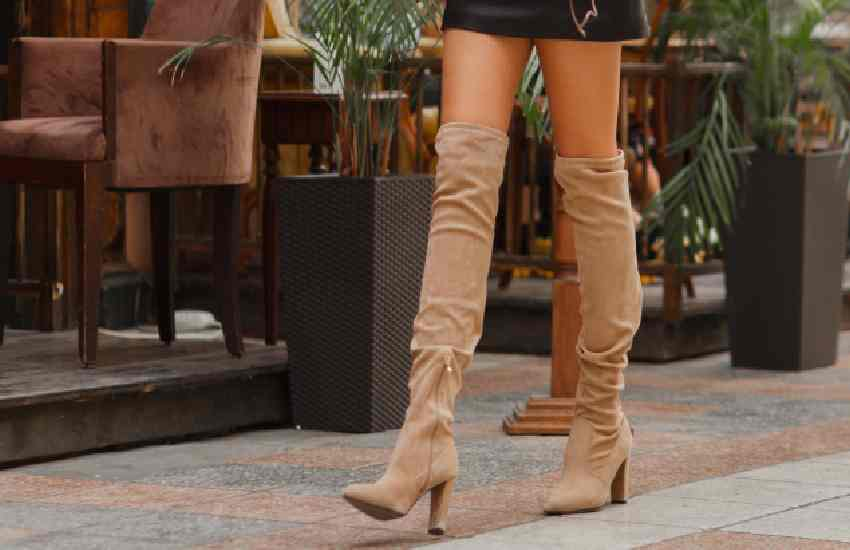 Eight trendy ways to pull off thigh-high boots
