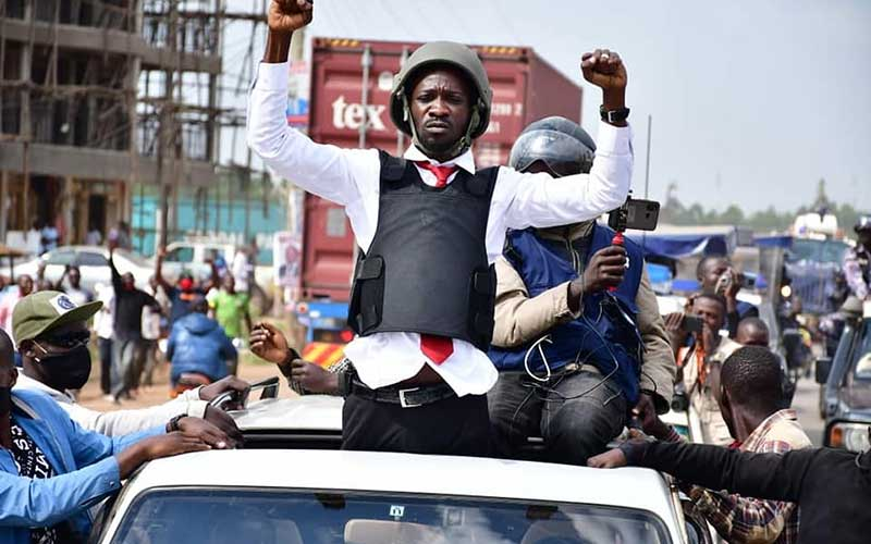 Bobi Wine accused of plans to stage own kidnap after casting his vote on Thursday