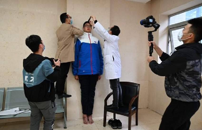 Boy, 14, set to be named officially as tallest child in the world