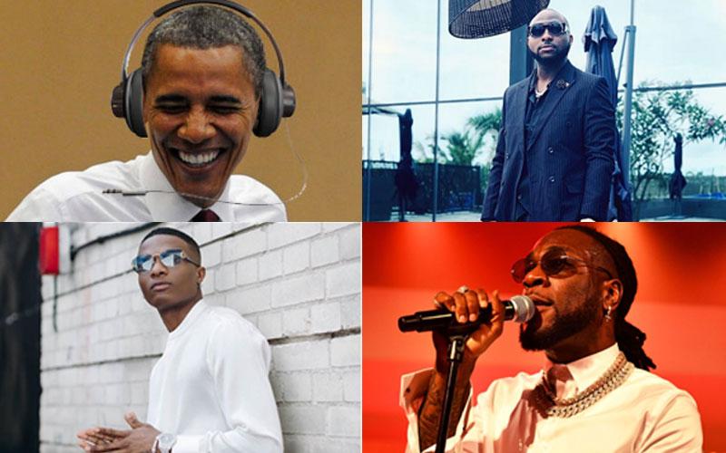 Davido, Wizkid and Burna Boy feature on Obama's 2020 playlist