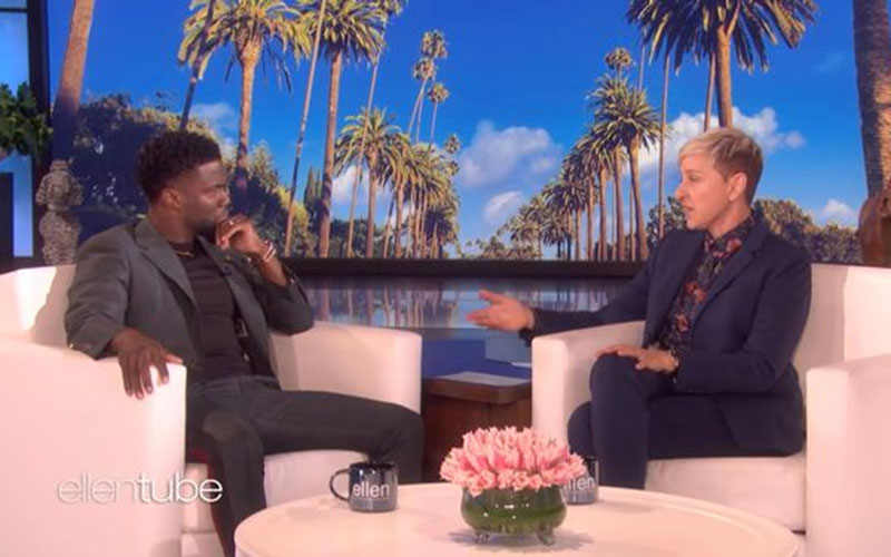 Ellen DeGeneres defended by Kevin Hart after racism claims