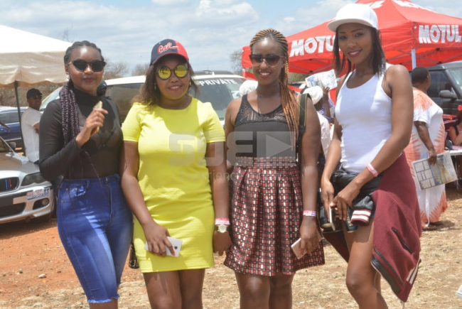 Elsie Kui, Noreem . Hilda Beacky and Ruth Mawia at the Nairobian Masinga TT- Drahs and Gymkhana 2017 at Masinga , Kenya on 15th October 2017. Photos by : FELIX KAVII