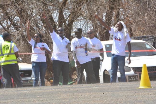 Dignity team cheers on at the Nairobian Masinga TT- Drahs and Gymkhana 2017 at Masinga , Kenya on 15th October 2017. Photos by : FELIX KAVII