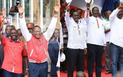 Ipsos survey: Uhuru,Raila neck to neck in State House race