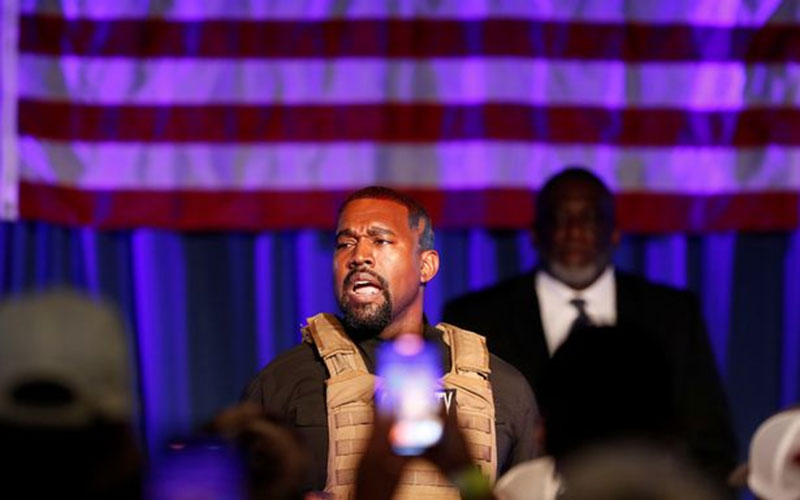 Kanye West in legal row after missing presidential election filing deadline by seconds