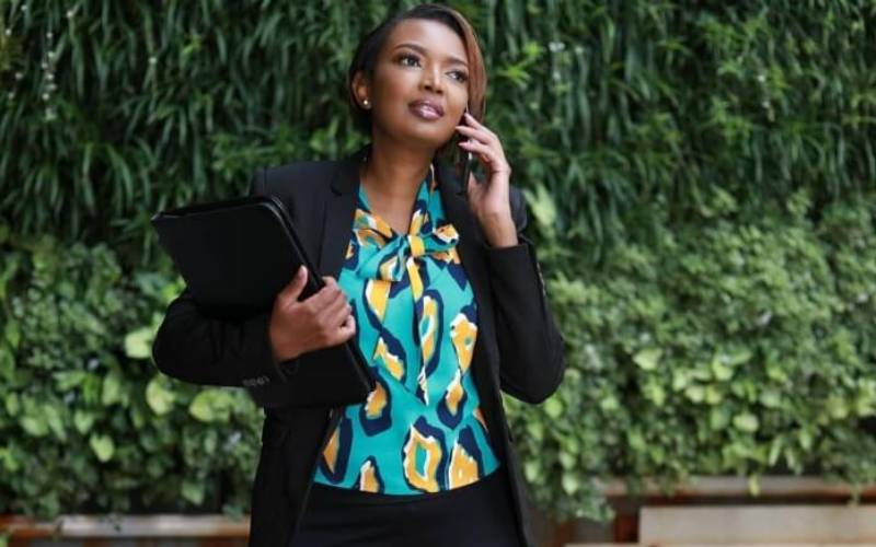 Karen Nyamu shares photo of her lookalike