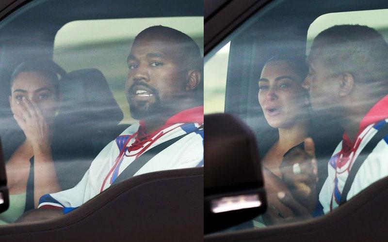 Kim Kardashian spotted in tears at Kanye West crisis talks