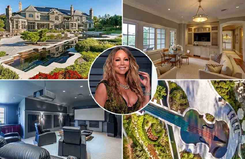 Mariah Carey's enormous 6-bed palace with pool where she's spent lockdown with twins