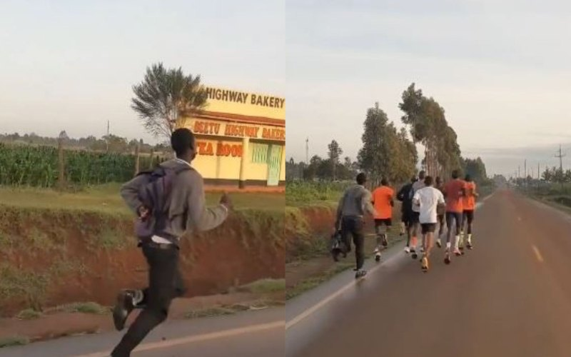 Meet student who went viral for running alongside athletes in school uniform
