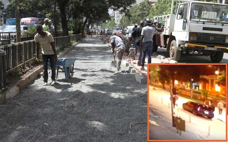 Nairobi's new cycle lanes, walkways prompt 'Uhuru and Raila' night visit
