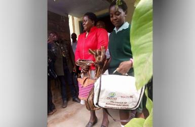 NEMA awards Meru school girl who went shopping with banana barks bag after plastic ban
