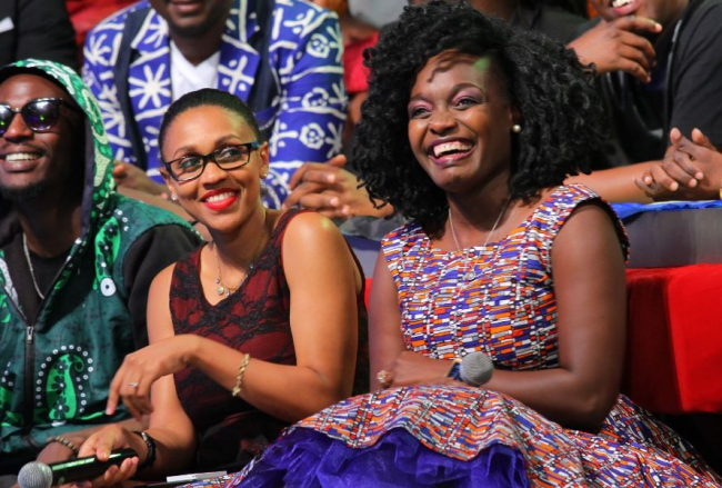 The guest lady judges for the night.. Joy Doreen and Angela Angwenyi