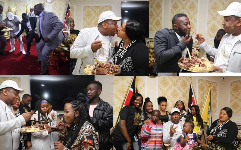 PHOTOS: Governor Sonko celebrates birthday in style, throws lavish party