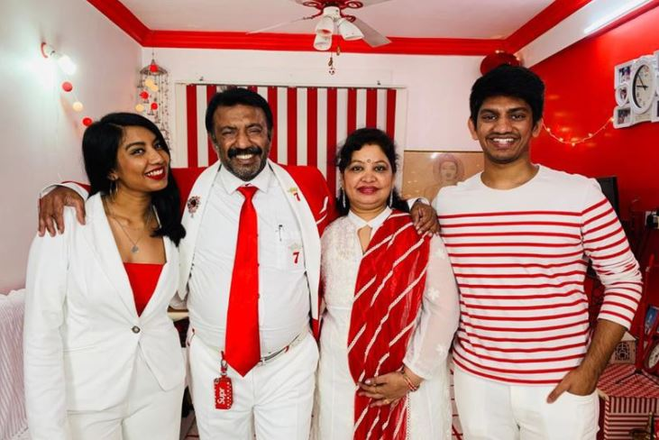 PHOTOS: Meet the family who only wear red and white - and live in a red and white house