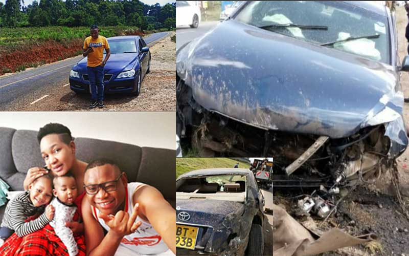 Radio Maisha's Clemmo speaks after car rolls thrice with his young family aboard