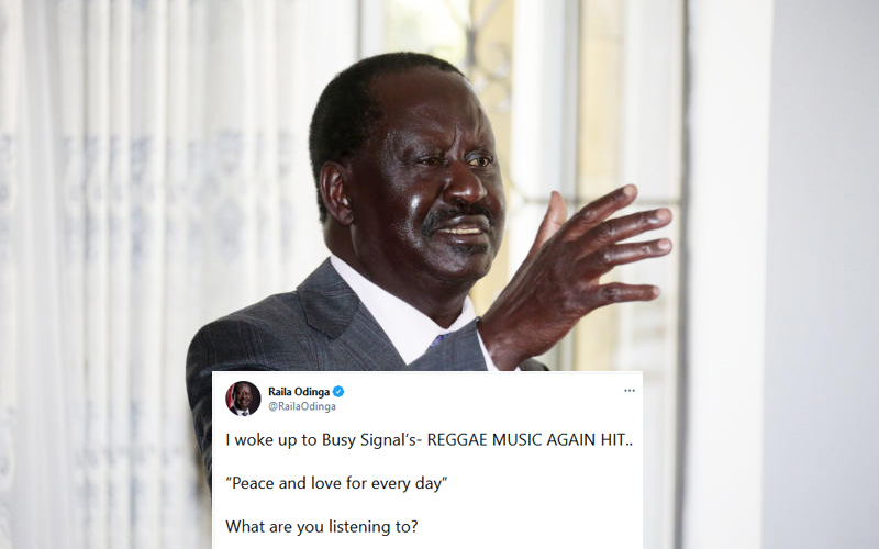Reggae music again: Why Raila's morning playlist has stirred Twitter