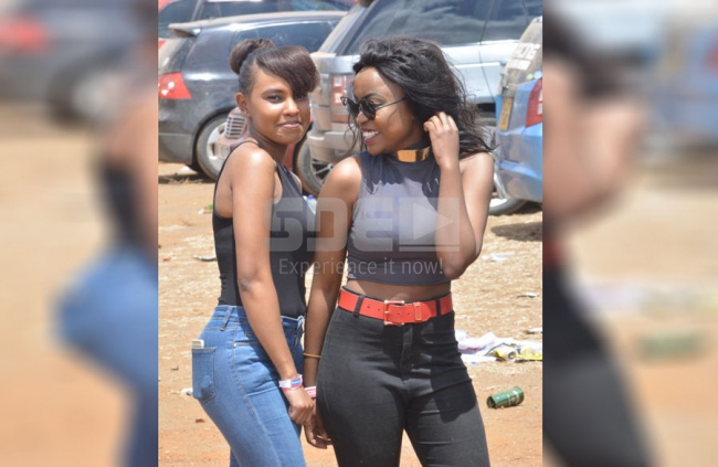 Paula Kiiri and Daisy Mwende  at the Nairobian Masinga TT- Drahs and Gymkhana 2017 at Masinga , Kenya on 15th October 2017. Photos by : FELIX KAVI