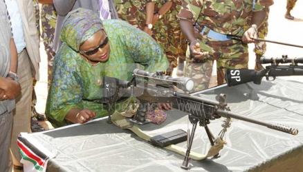 Sniper Raychelle Omamo: CS checks out military artillery