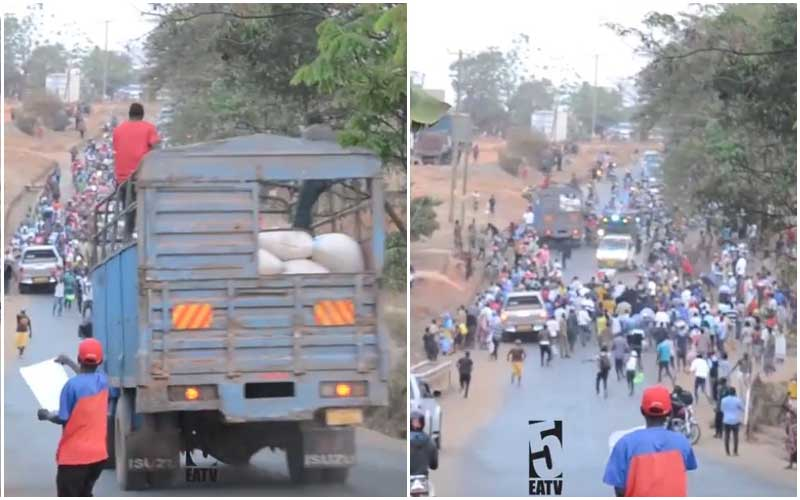 Tanzania Elections: Moment speeding lorry rams into crowd during campaigns