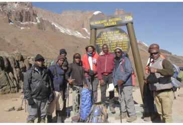The day CBK governor and team conquered Mt Killimanjaro