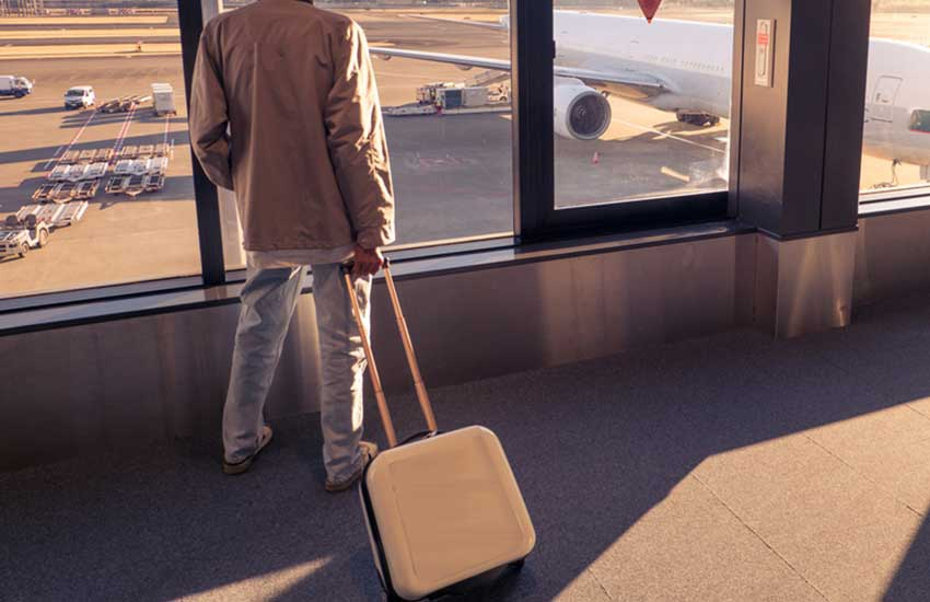 Broke? Ex-top state official spotted dishevelled at a city airport