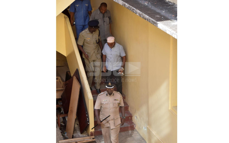 Drama: Mombasa County official locks self in office to evade arrest