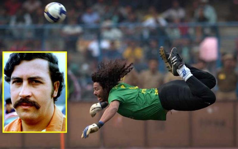 Goalkeeper behind 'scorpion kick' describes visit with Pablo Escobar