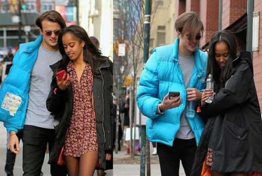 Never seen photos of Malia Obama and her British boyfriend