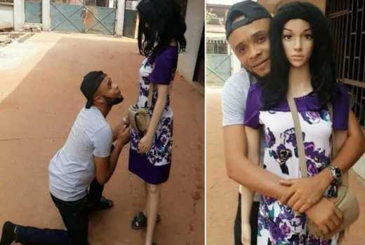 Nigerian man gets down on one knee to propose to a 'Samantha'