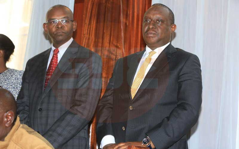 What happened to Treasury CS Rotich and PS Thugge in police cells