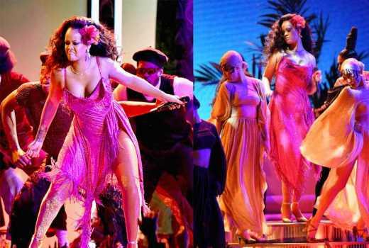 Rihanna performs African `gwara gwara' dance at the Grammys