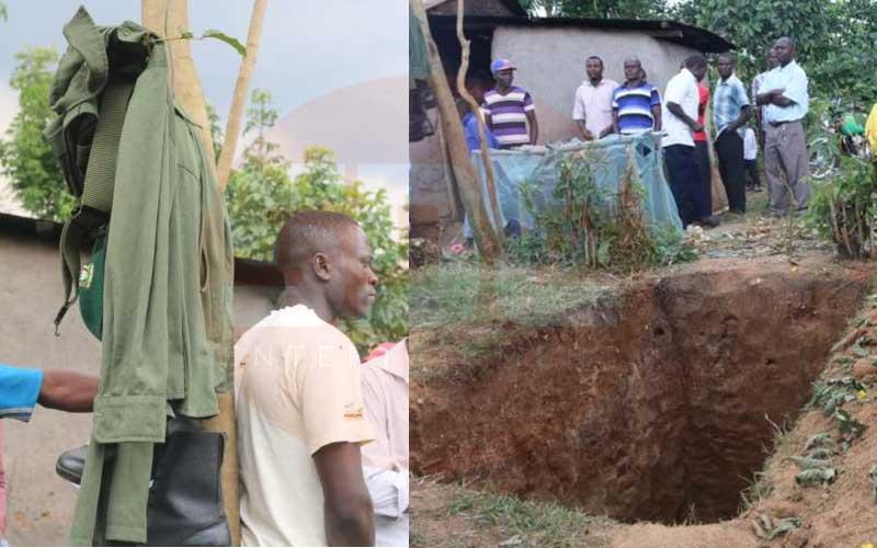 Shock: County staff dig up coffin, strip body of uniform