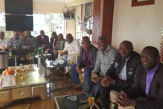 PHOTOS: Sonko moves committee meeting to his posh Mua Hills home