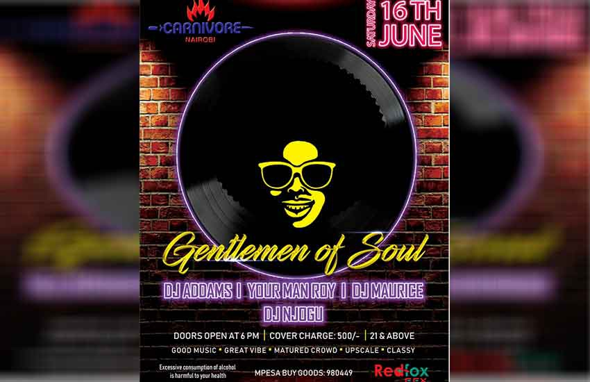 Treat yourself to a night of soul on the 16th of June at the Carnivore!