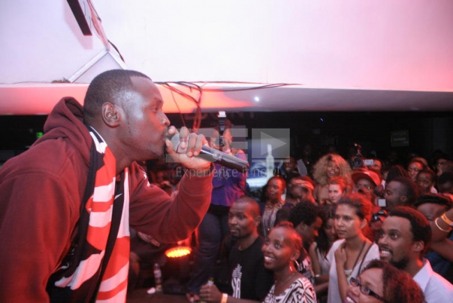 King Kaka performs during the international hiphop legend Yasiin Bey A.K.A. Mos Def concert at Ebony Lounge.PHOTO DAVID GICHURU