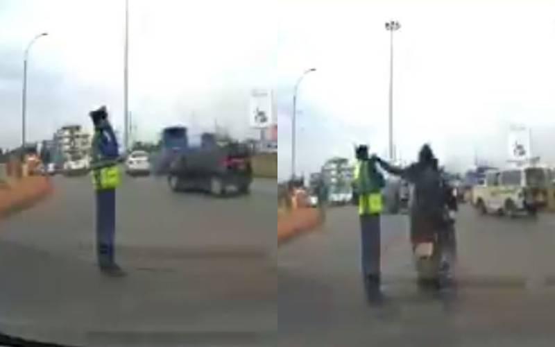 VIDEO: Daring thugs steal phone from traffic cop, Kenyans react