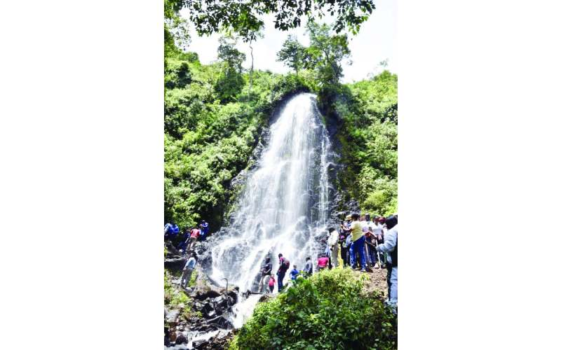 Waterfall that has excited Nakuru residents